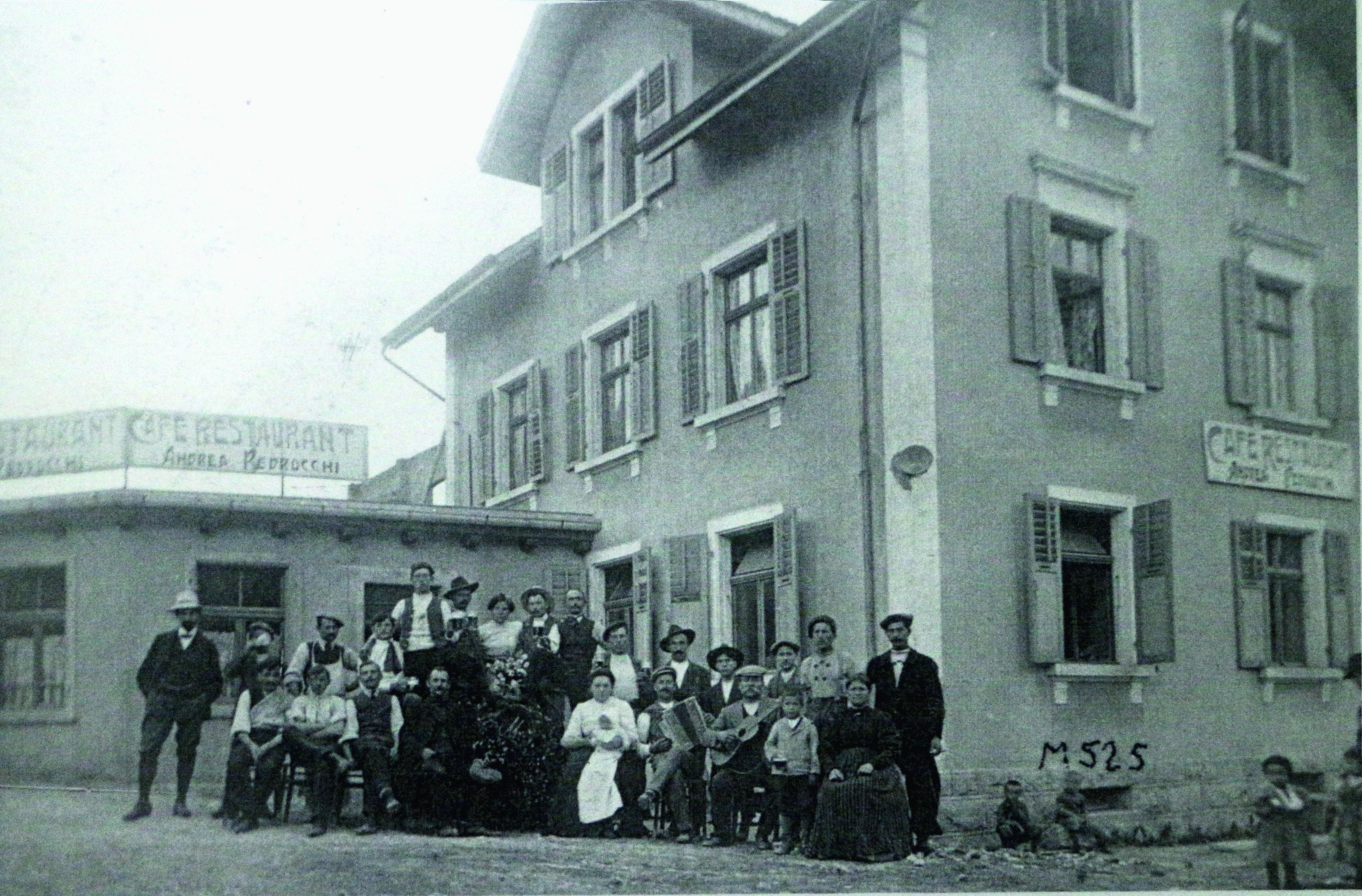 La pension «Andrea Pedrocchi». Cette maison de la rue des Œuches est encore aujourd'hui occupée par la famille.