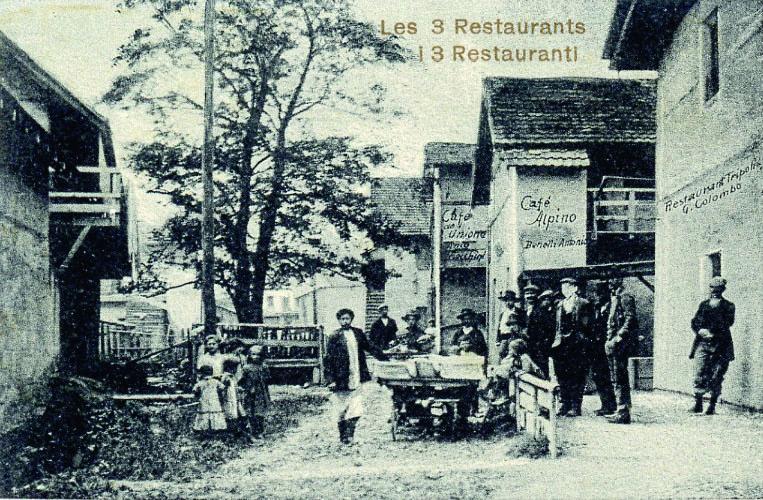 C'est dans de tels établissements que de temps en temps se déclenchait une bagarre. Le restaurant «Colombo» et les cafés «Alpino» et «Unione»